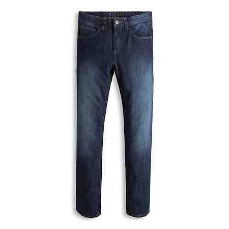 ESPRIT Non-Stretch Jeans mit dunkler Waschung