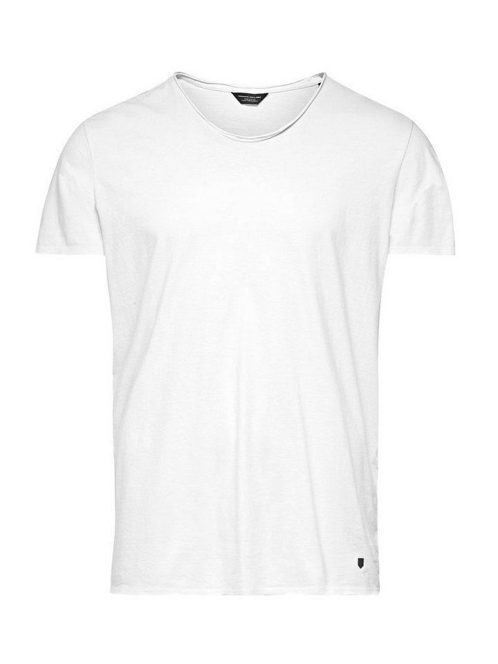 Jack & Jones Glatter Roll-Rand T-Shirt in Whisper White