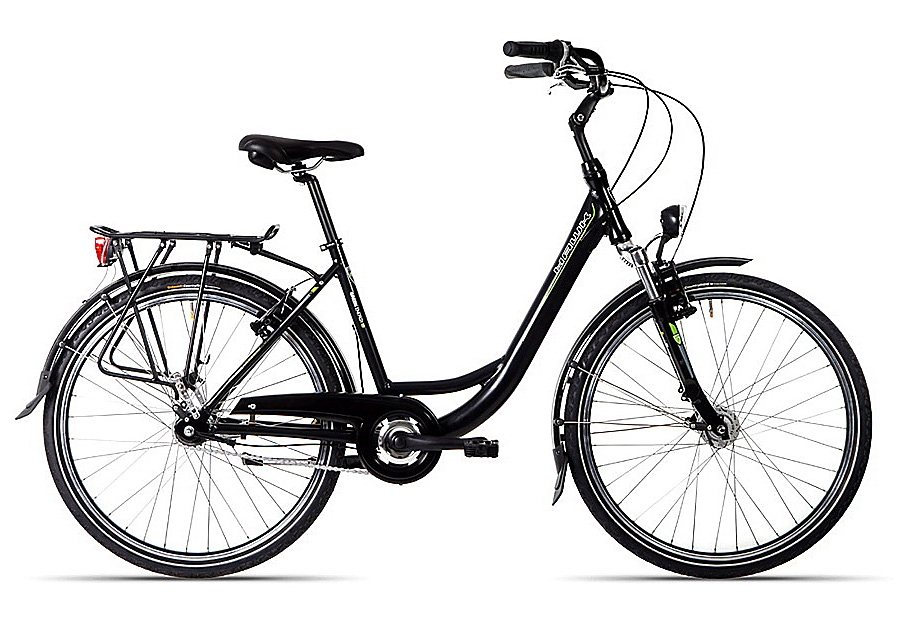 ALU-Cityrad, 26 -28 Zoll, 7-Gang-SHIMANO-Nabensch.., Rücktritt, »Green City Plus«, Hawk Green Energy in schwarz