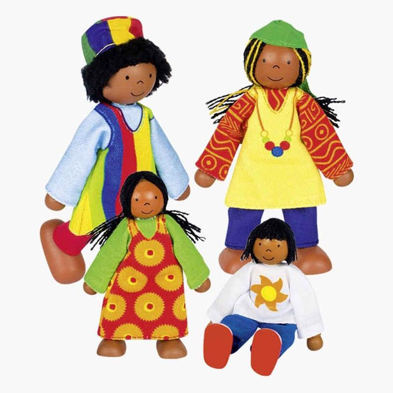 goki Biegepuppe »Puppenfamilie Afrika«
