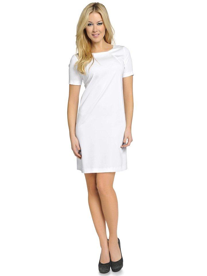 Halbarmkleid in weiß