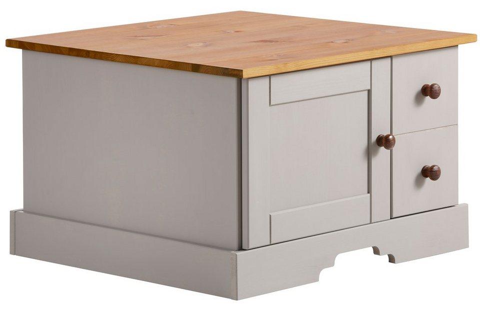 Home affaire, Couchtisch »Meret«, Breite 60 cm in grau/kirschbaumfarben