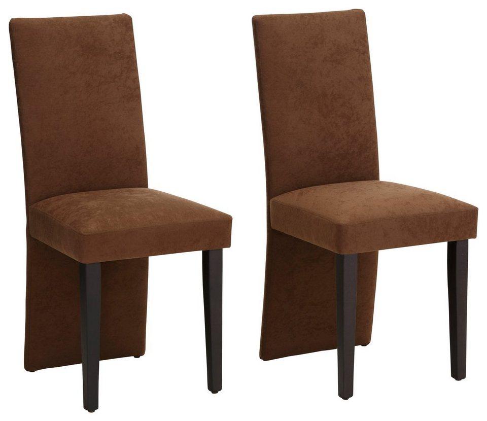 Stühle, Home affaire (2er-, 4er-, oder 6er-Set) in braun