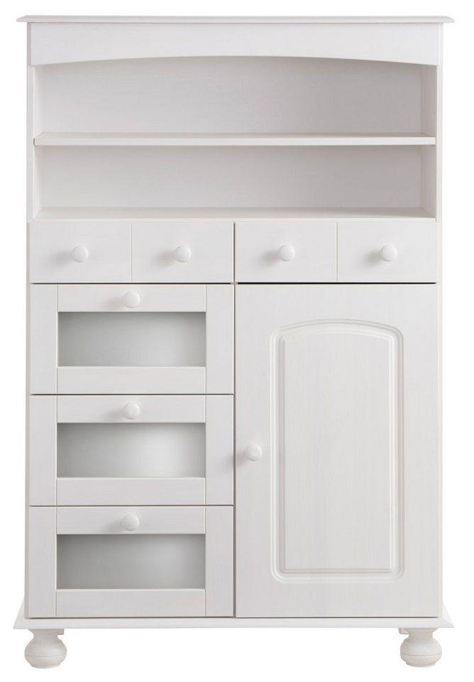 Home affaire Pastaschrank, Höhe 130 cm in weiß