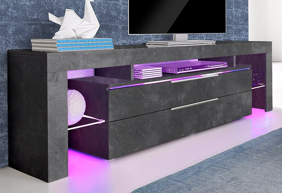 places of style lowboard breite 163 cm kaufen otto. Black Bedroom Furniture Sets. Home Design Ideas