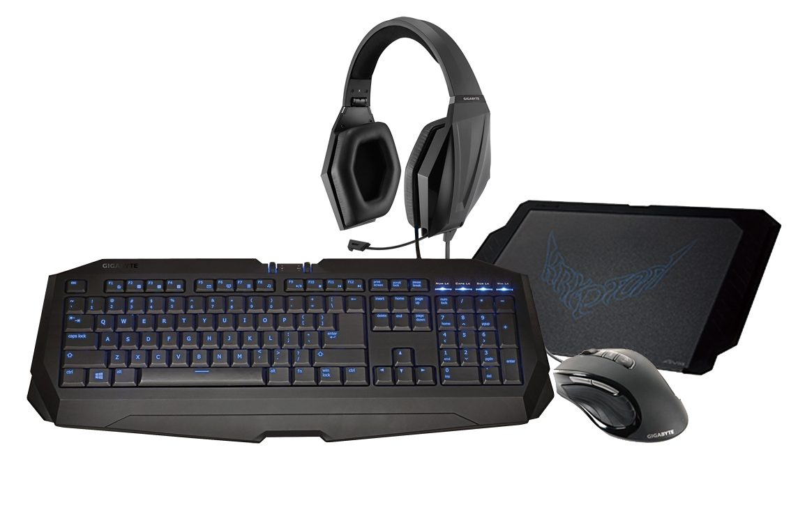 GIGABYTE Set aus Maus, Tastatur, Headset, Mauspad »Gaming Upgrade Kit«