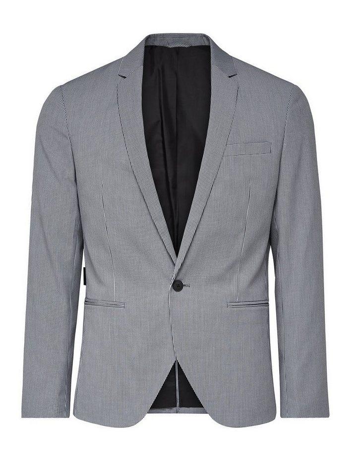 Jack & Jones Chequered Blazer in Dark Grey