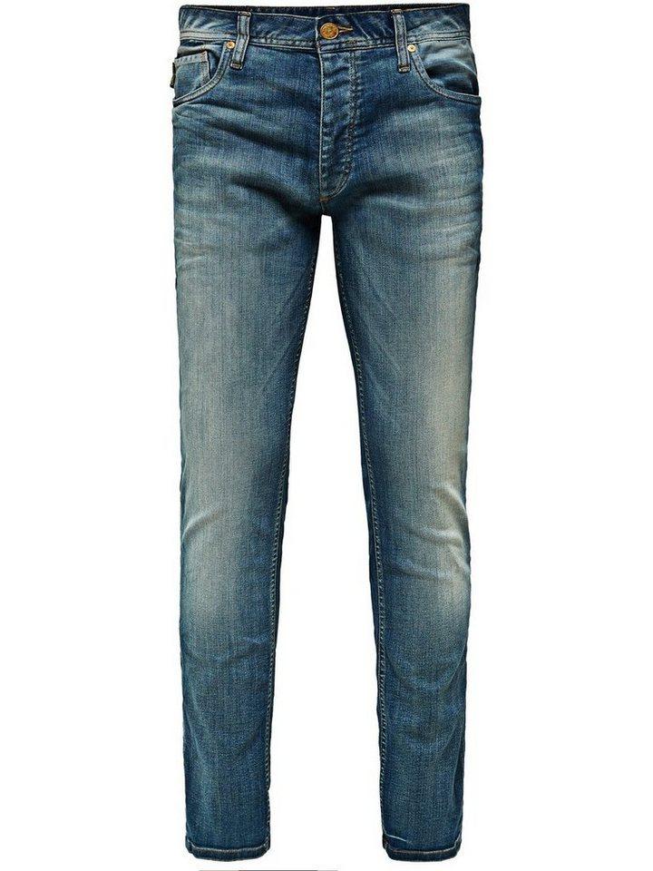 Jack & Jones Tim Original JOS 094 Slim Fit Jeans in Blue Denim