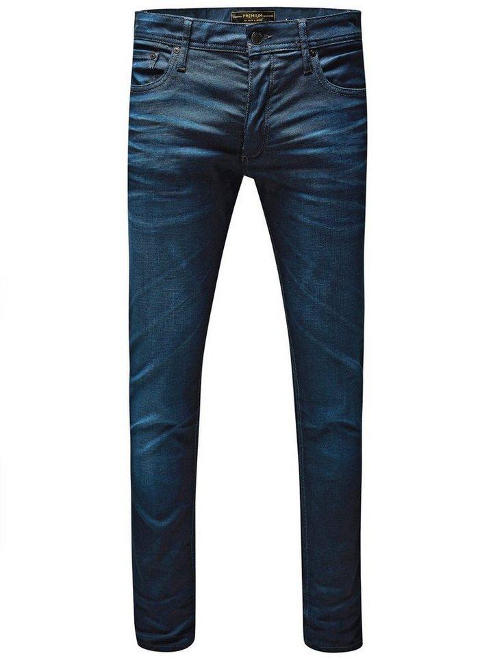 Jack & Jones Tim Classic JJ 820 LID Slim Fit Jeans in Medium Blue Denim