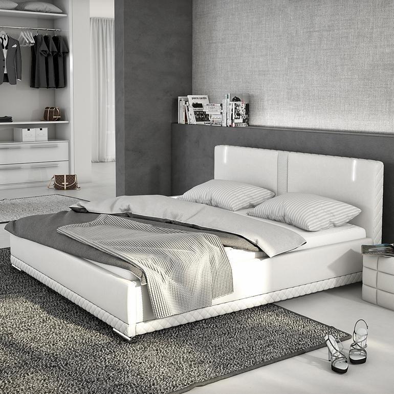 Innocent Polsterbett aus Kunstleder weiß 180x200cm mit LED und Lautsprech »Caspani«