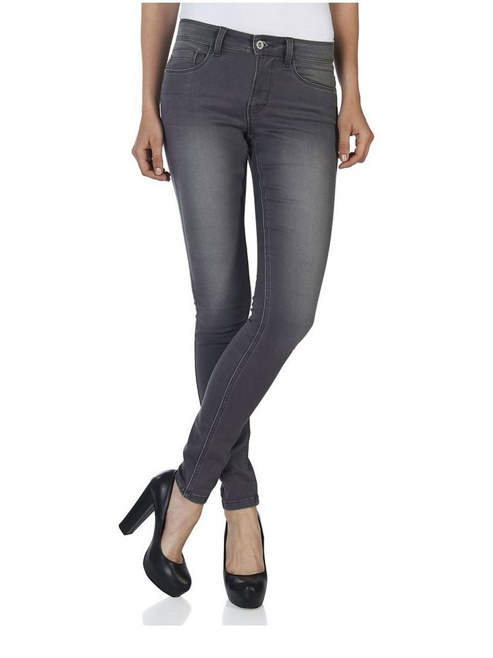 Only Ultimativ, weich, regular-skinny Jeans in Medium Grey Denim