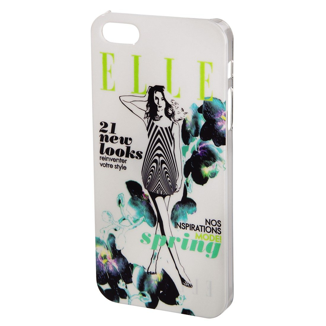 ELLE Cover Spring Feeling für Apple iPhone 5/5s/SE, Weiß