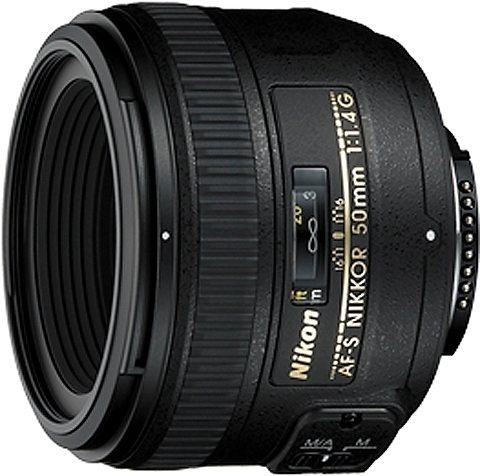 Nikon AF-S NIKKOR 50 mm 1:1,4G Festbrennweite Objektiv in schwarz