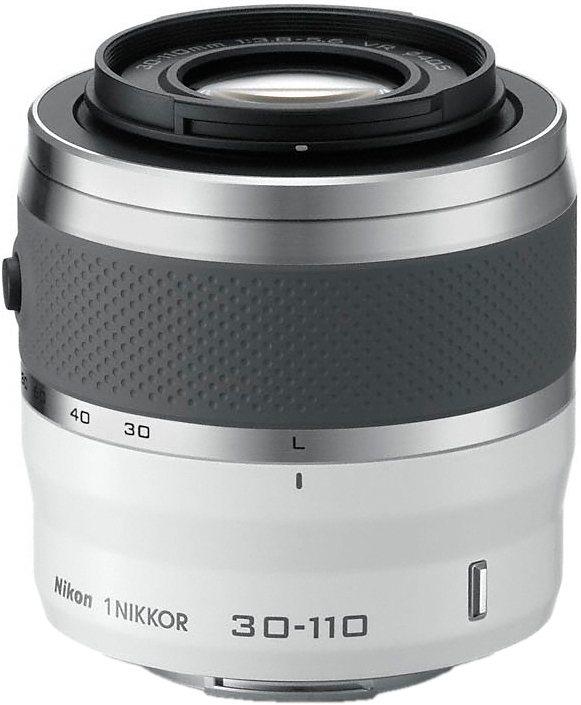 NIKON 1 NIKKOR VR 30-110mm Telezoom Objektiv in weiß
