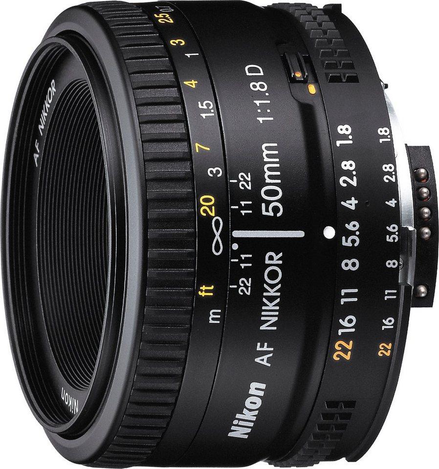 Nikon AF Nikkor 50 mm 1:1,8D Festbrennweite Objektiv in schwarz