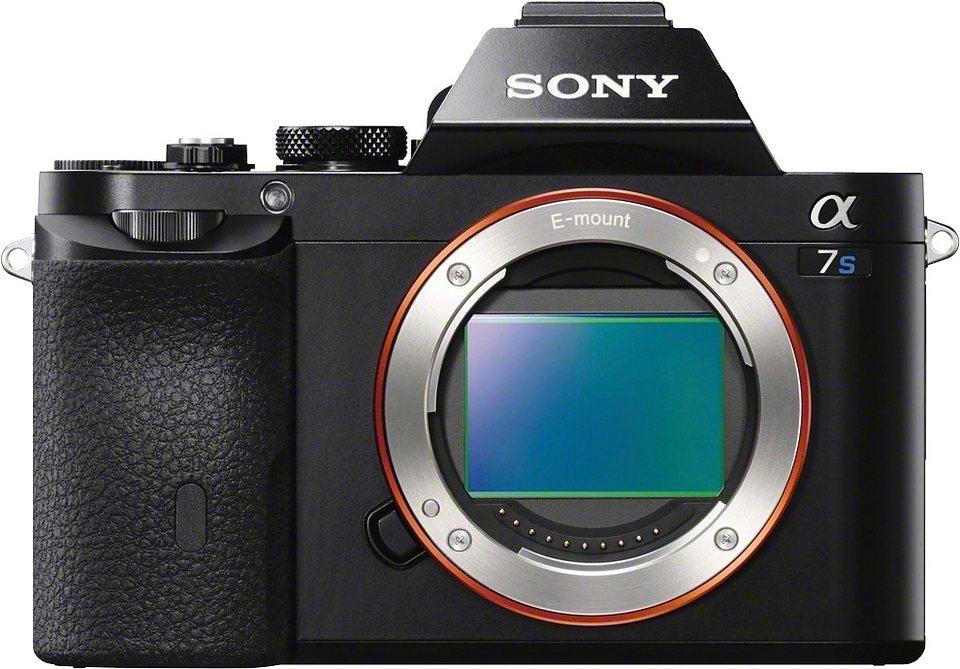 Sony Alpha ILCE-7S Body System Kamera, 12,2 Megapixel, 7,5 cm (3 Zoll) Display in schwarz
