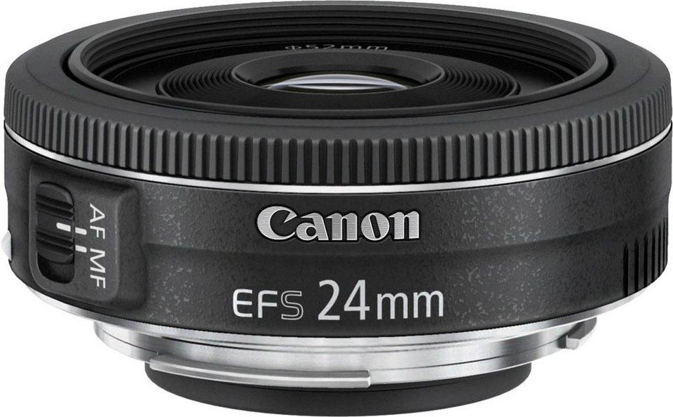 Canon EF-S 24mm 1:2,8 STM Pancake Objektiv in schwarz