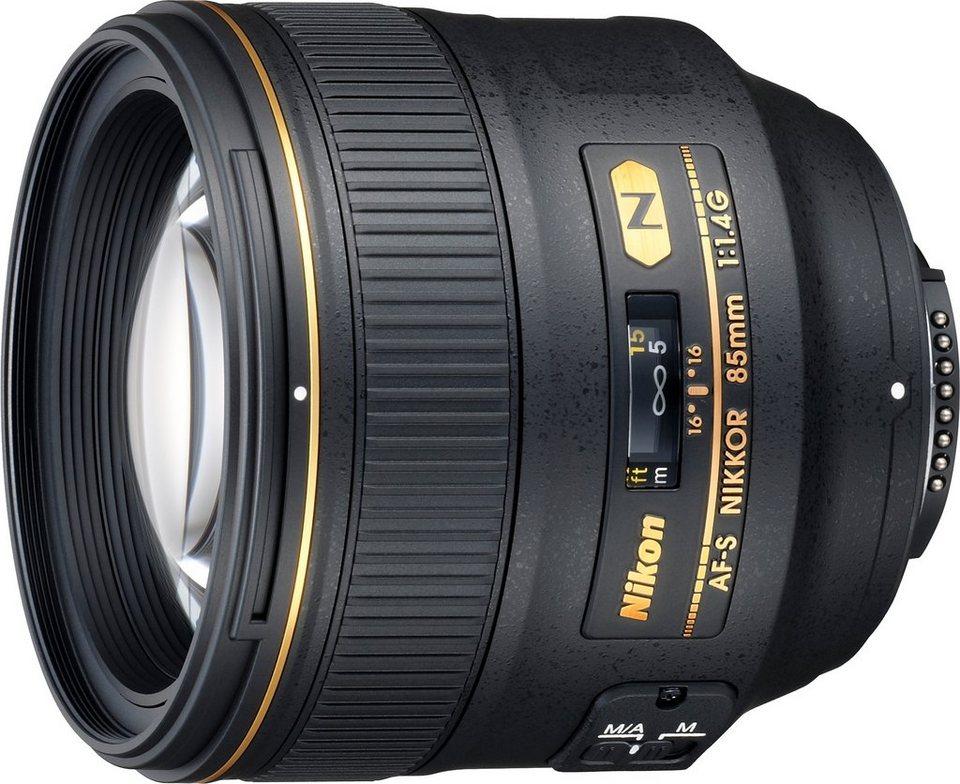 Nikon AF-S NIKKOR 85 mm 1:1,4G Tele Objektiv in schwarz