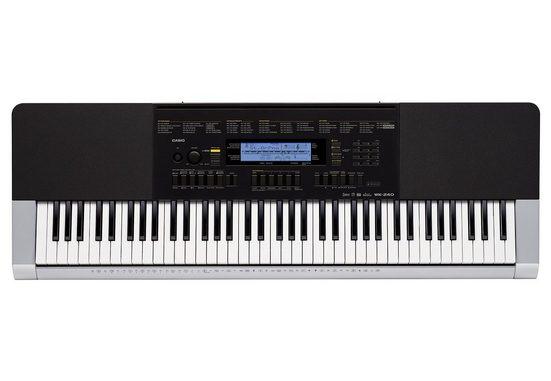CASIO Keyboard »WK-240«, (Set), mit dreistufigem Step-Up-Lernsystem