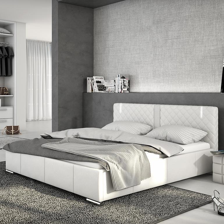 Innocent Polsterbett aus Kunstleder weiß 180x200cm mit LED und Lautsprech »Effra«
