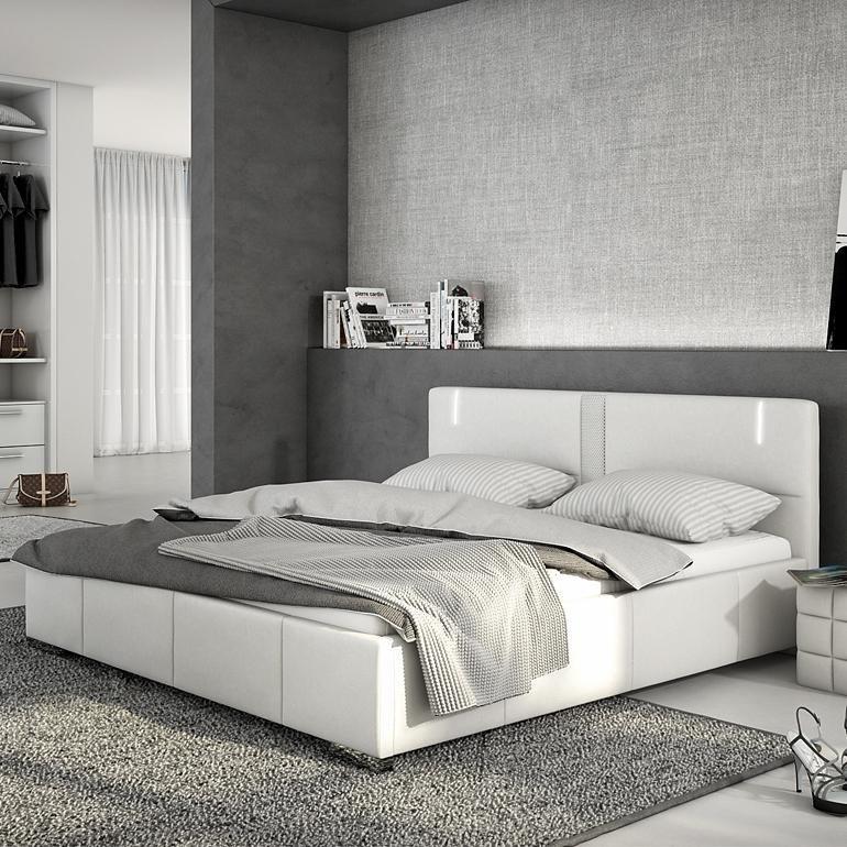 Innocent Polsterbett aus Kunstleder weiß 180x200cm mit LED und Lautsprech »Accura«
