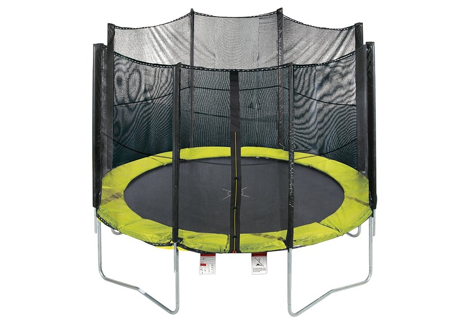 trampolin 305 mit sicherheitsnetz gr n schwarz rbsports online kaufen otto. Black Bedroom Furniture Sets. Home Design Ideas
