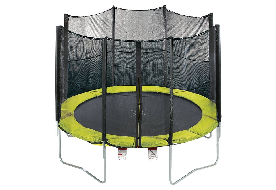 trampolin 366 cm mit sicherheitsnetz gr n schwarz rbsports online kaufen otto. Black Bedroom Furniture Sets. Home Design Ideas