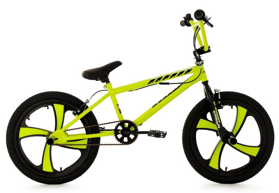 bmx fahrrad 20 zoll gelb mag wheels cobalt ks. Black Bedroom Furniture Sets. Home Design Ideas