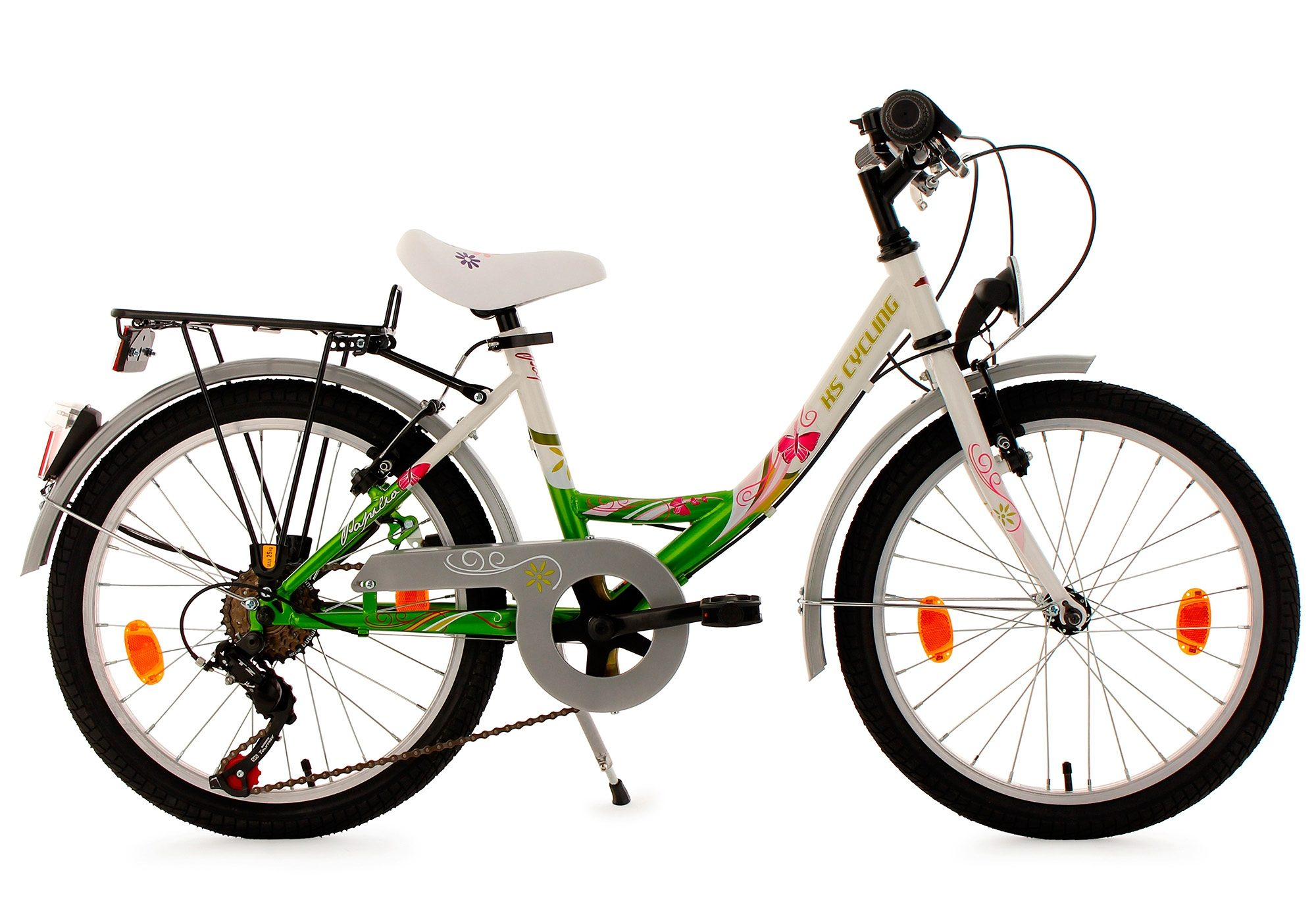 Kinderfahrrad, KS Cycling, »Papilio«, 20 Zoll, weiß, 6 Gang Shimano Tourney, V-Brake