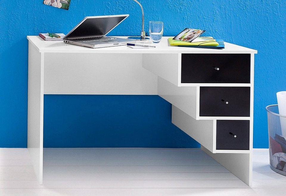 Schildmeyer Schreibtisch »Beli« in weiß-schwarz