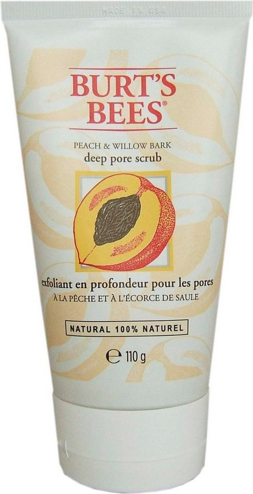 Burt's Bees, »Peach & Willobark Deep Pore Scrub«, Gesichtspeeling, 110 g