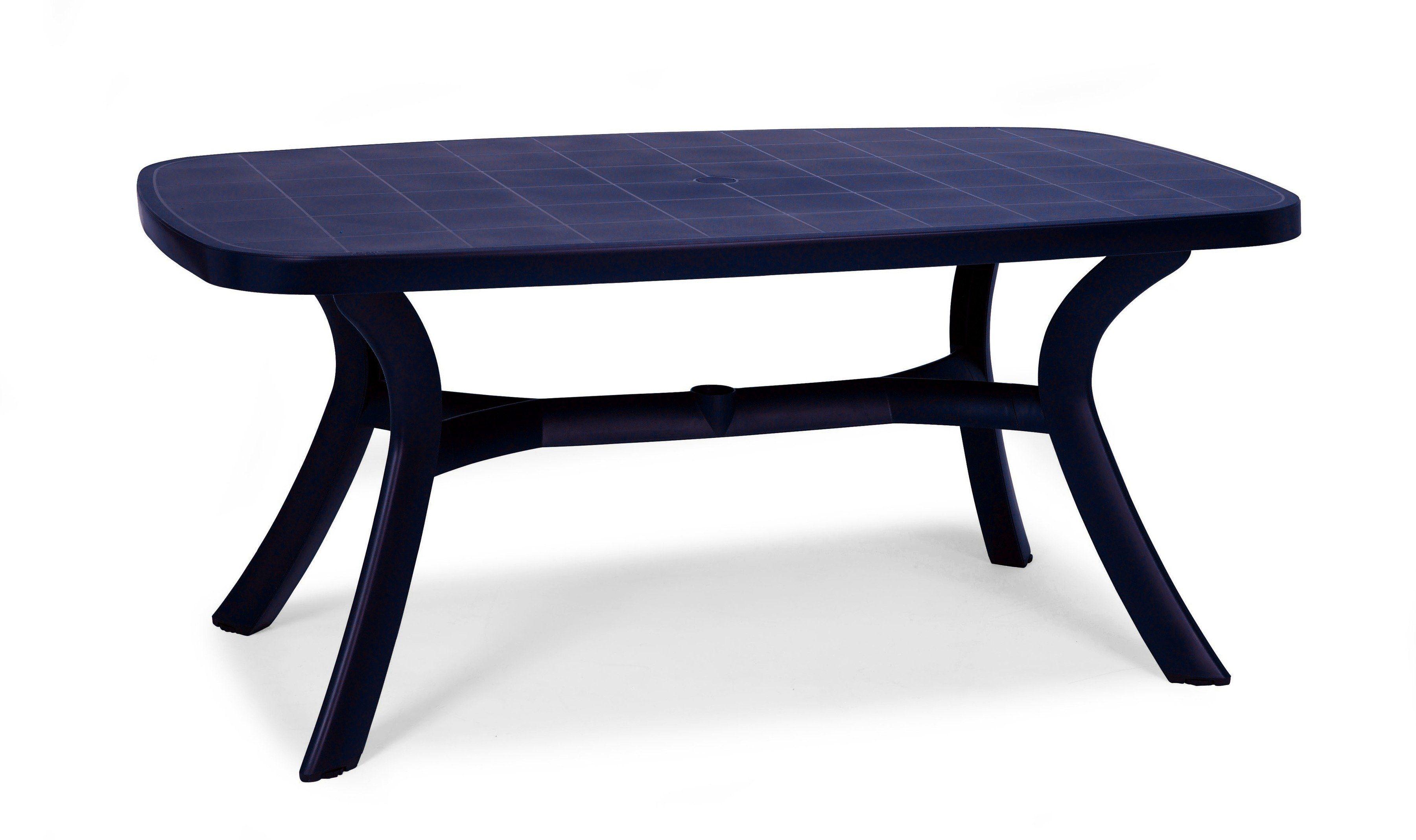 BEST Gartentisch »Kansas«, Kunststoff, 192x105 cm, blau