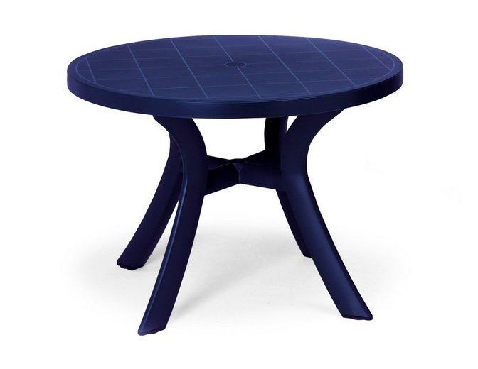 BEST Gartentisch »Kansas«, Kunststoff, Ø 100 cm, blau