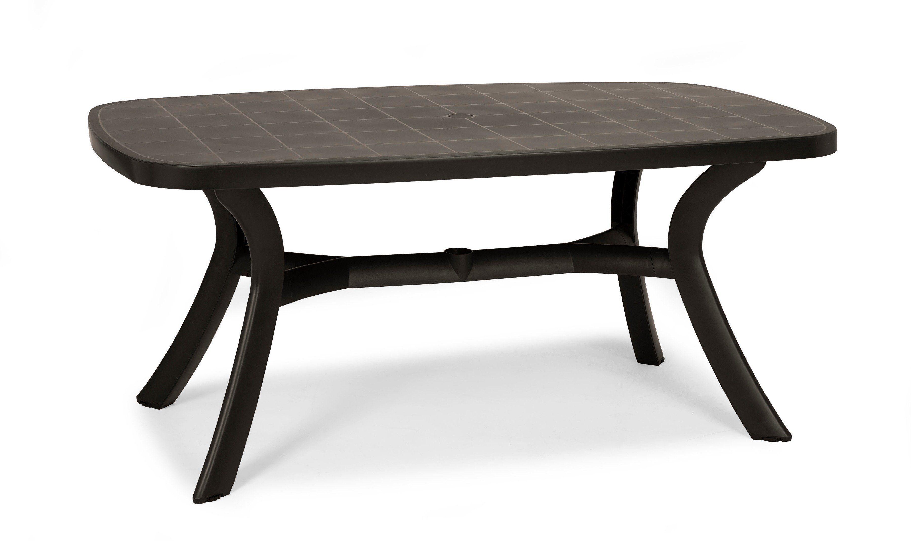 BEST Gartentisch »Kansas«, Kunststoff, 192x105 cm, anthrazit