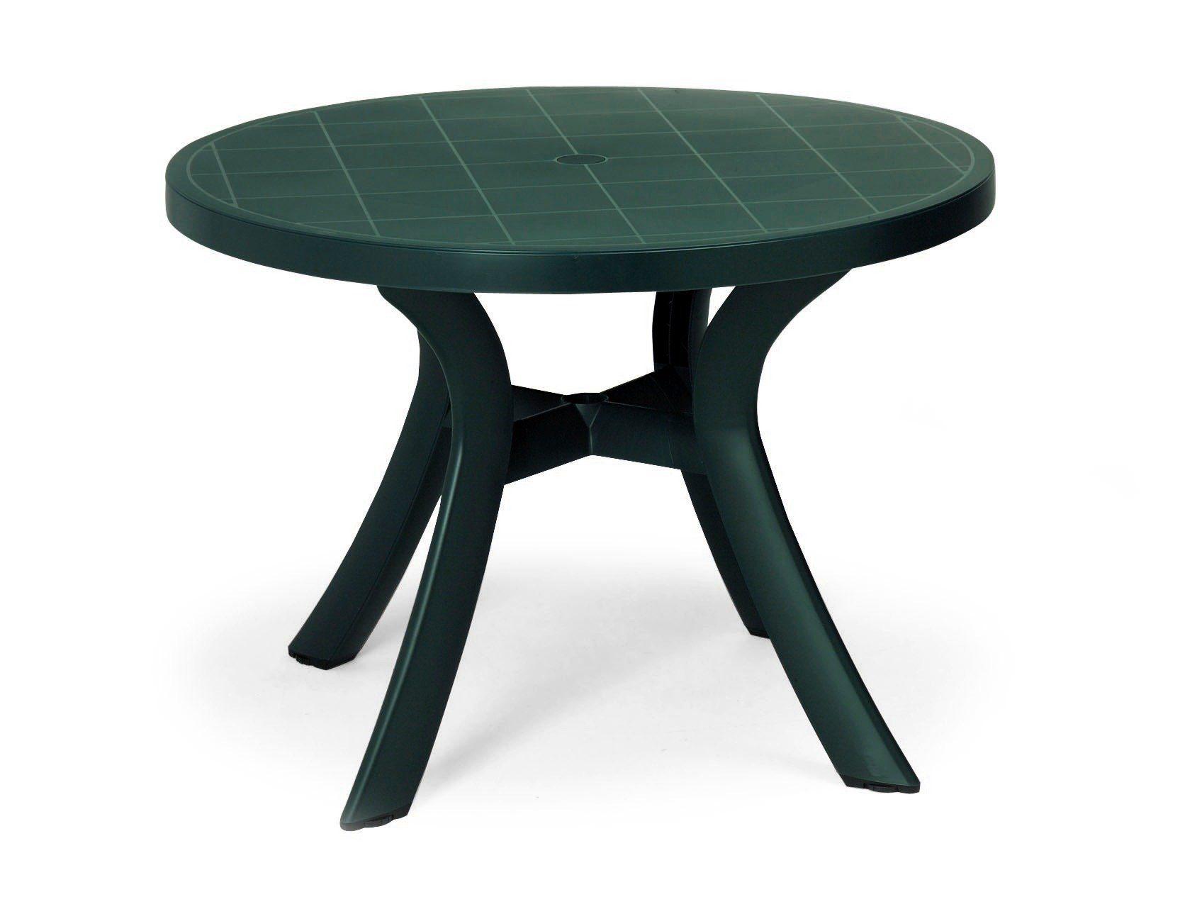 BEST Gartentisch »Kansas«, Kunststoff, Ø 100 cm, grün