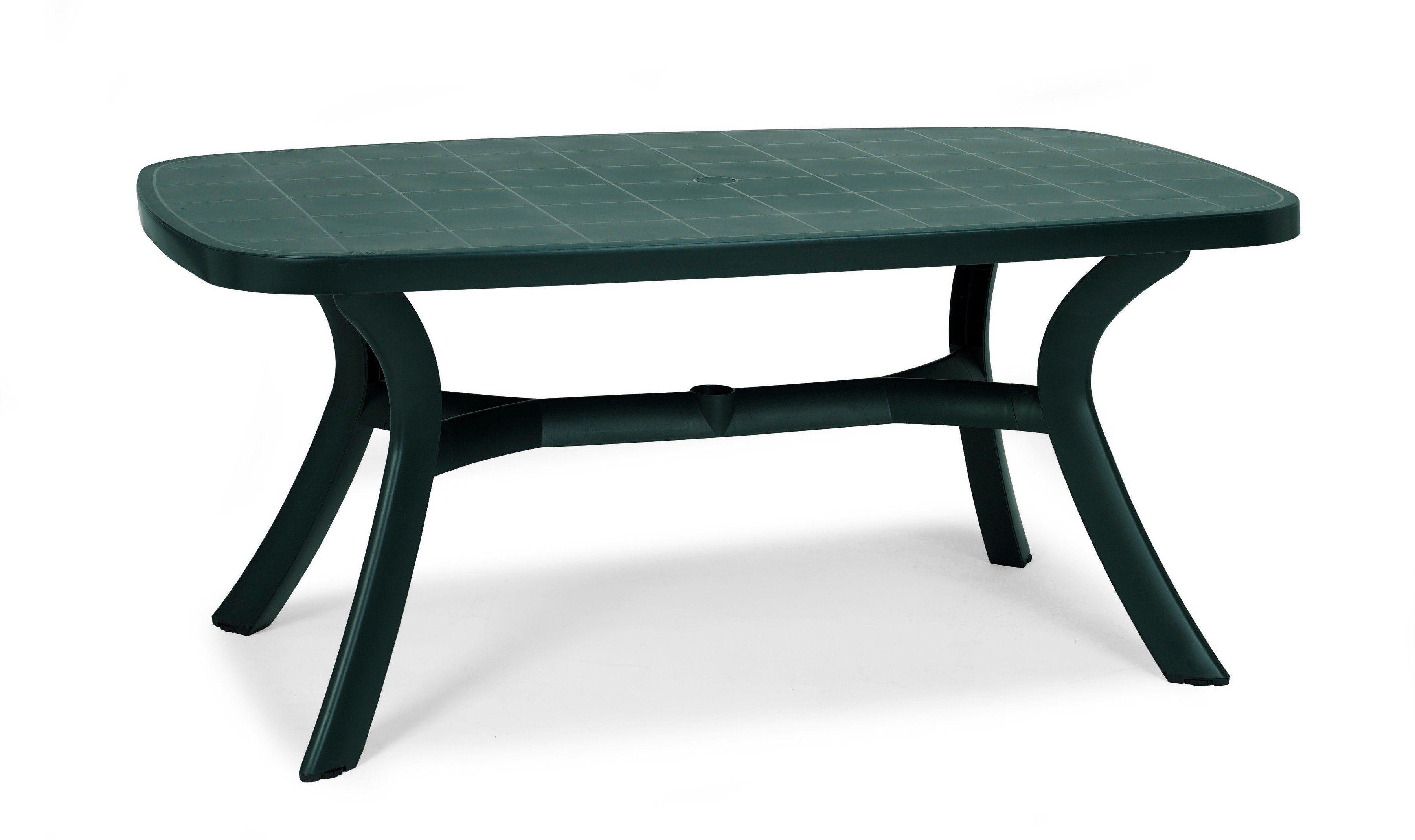 BEST Gartentisch , Kunststoff, 192x105 cm, grün