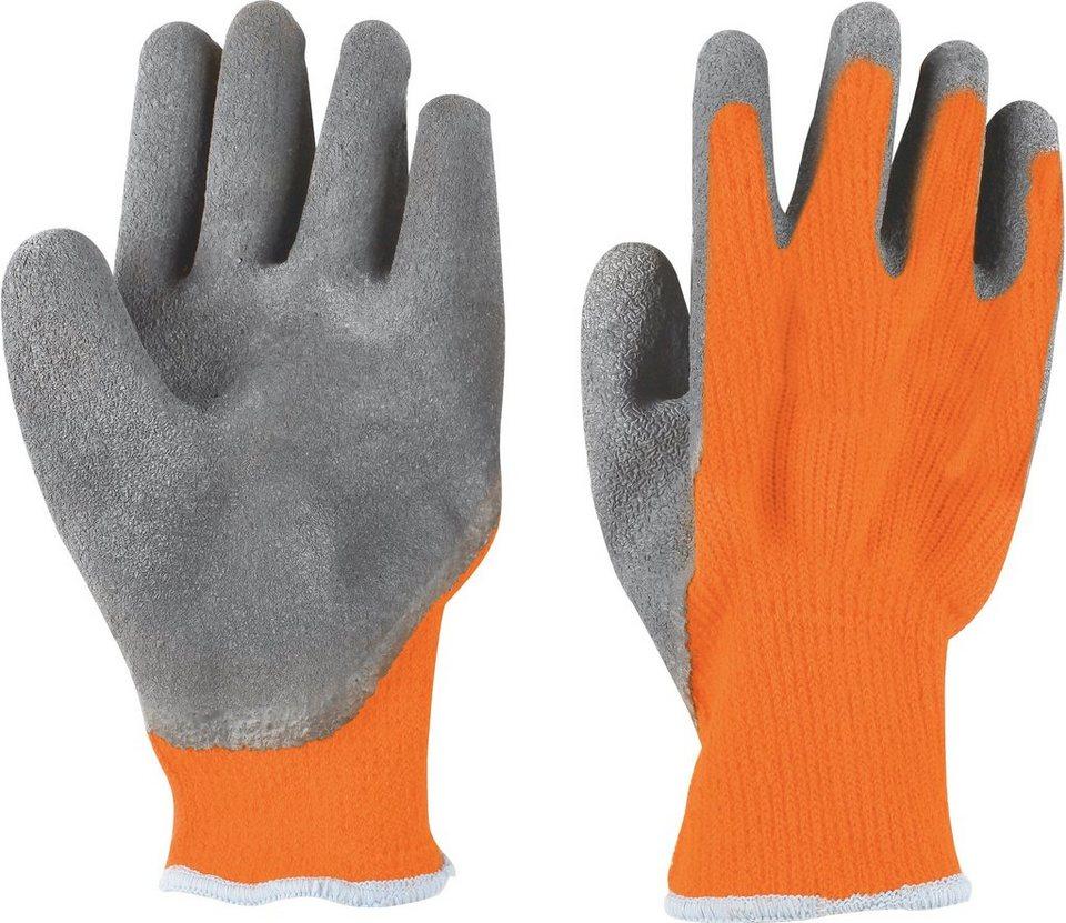 Handschuhe (3 Paar) in grau/rot