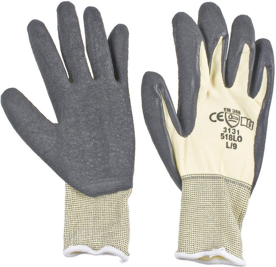 Handschuhe (6 Paar) in natur/schwarz