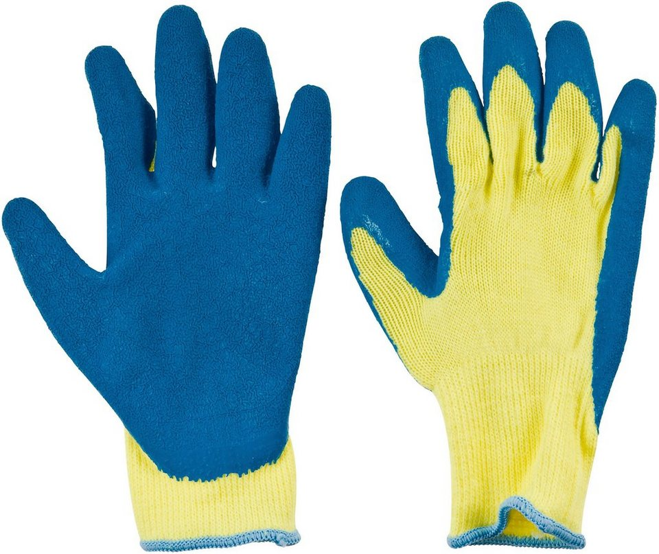 Handschuhe (6 Paar) in blau/grün