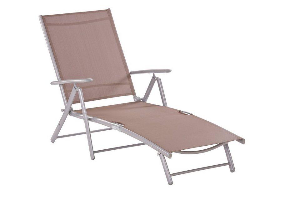 merxx gartenliege alu textil klappbar taupe schwarz online kaufen otto. Black Bedroom Furniture Sets. Home Design Ideas