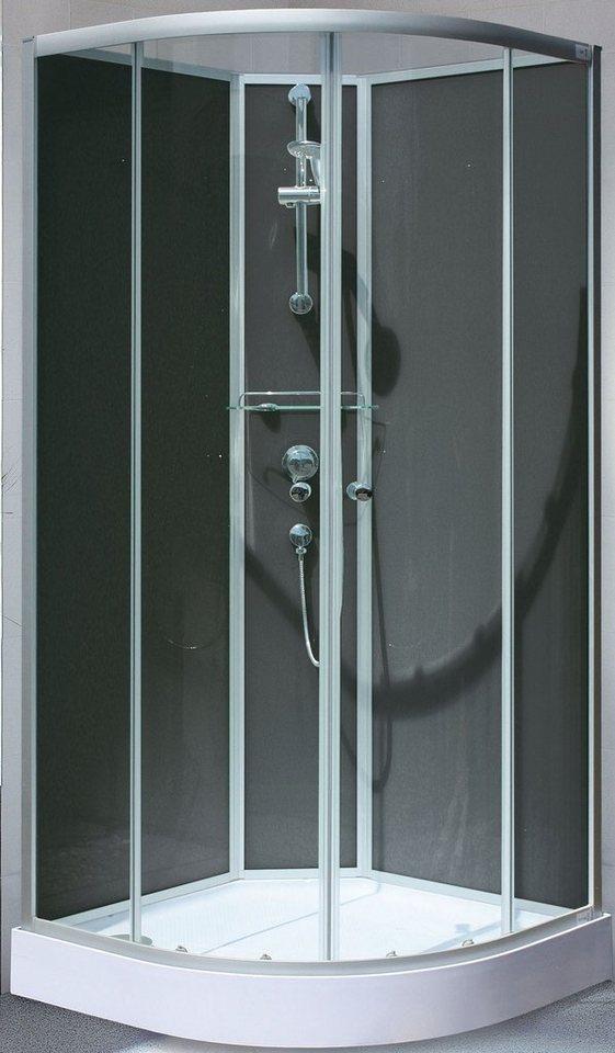 Set: Komplettdusche »Kreta«, 89/89 cm in chromfarben