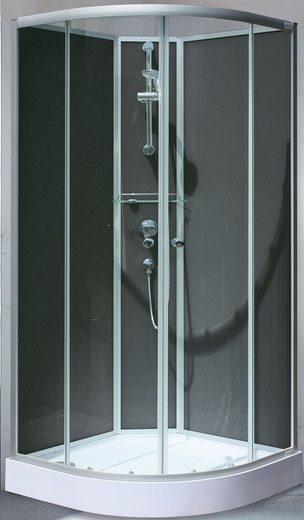 SCHULTE Komplett-Set: Komplettdusche »Kreta«, Viertelkreisdusche, BxT: 89 x 89 cm