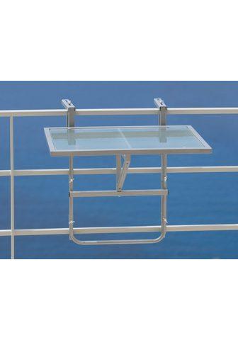 MERXX Pakabinamas balkono stalas Stahl/Glas ...