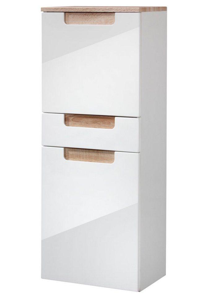 Held Möbel Midischrank »Siena« 40 cm in eichefarben/weiß
