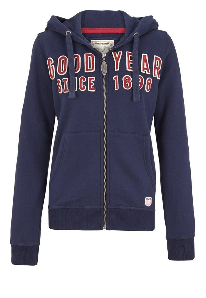 Goodyear Sweatjacke »VANDALIA« in Dark Navy