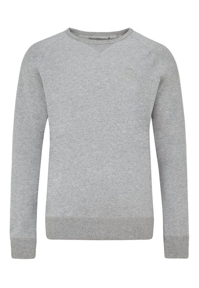 Lonsdale Sweatshirt in Marl Grey