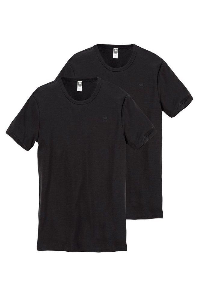 G-Star T-Shirt (Packung, 2er-Pack) in schwarz