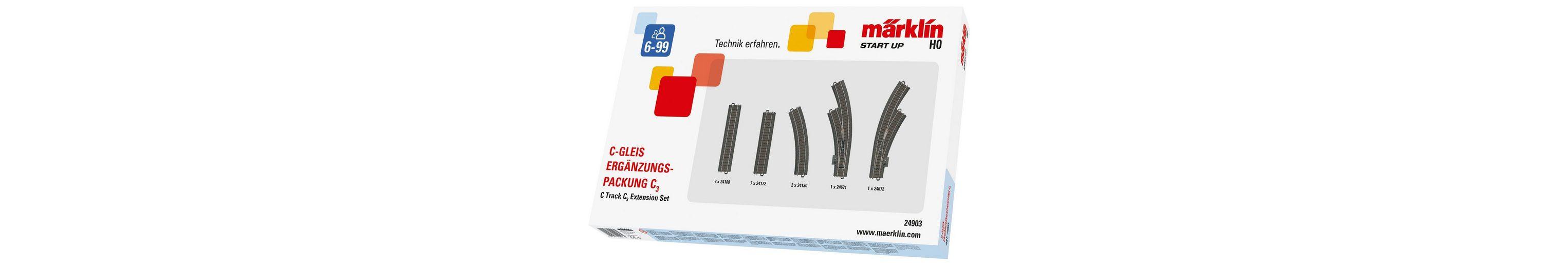 Märklin C-Gleis-Ergänzungspackung, »Märklin Start up - C3 - 24903«