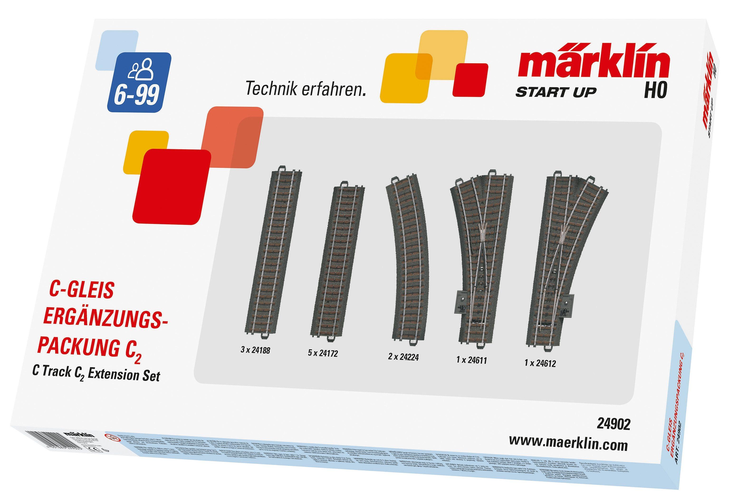 Märklin C-Gleis-Ergänzungspackung, »Märklin Start up - C2 - 24902«