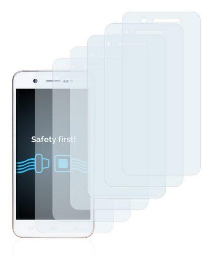 Savvies Schutzfolie »für Mediacom PhonePad Duo S470«, (6 Stück), Folie Schutzfolie klar